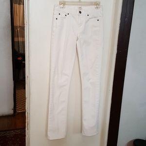 J.Crew white cotton jeans